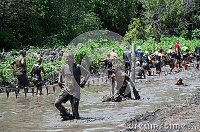 Muddy river walk Editorial Stock Image