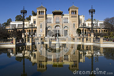 Mudejar Pavilion Editorial Stock Photo