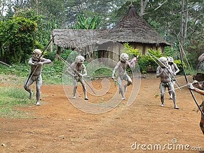 Mudmen Papua Editorial Stock Photo