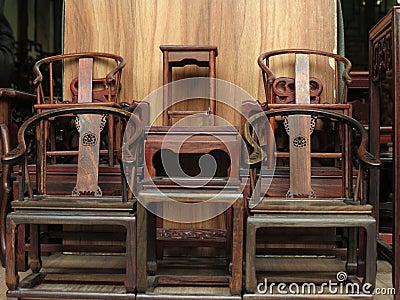 Muebles antiguos tradicionales chinos