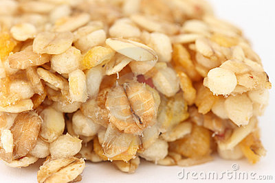 Muesli bar close up