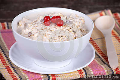 Muesli with berry
