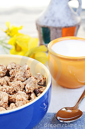 Muesli with raisins