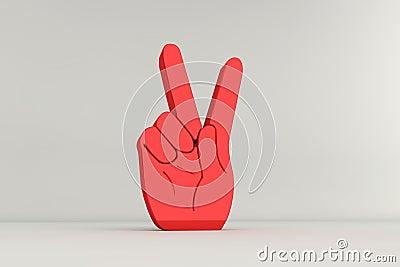Muestra de la mano de la victoria