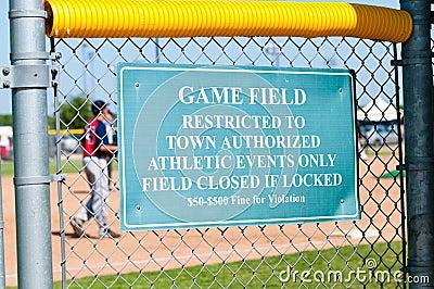 Muestra de la restricción del béisbol