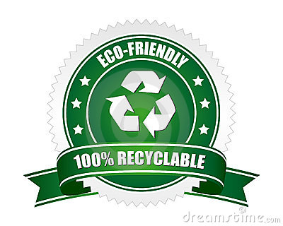 Muestra reciclable del 100