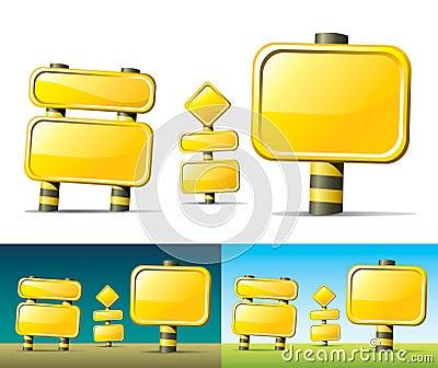 Muestras de camino amarillas