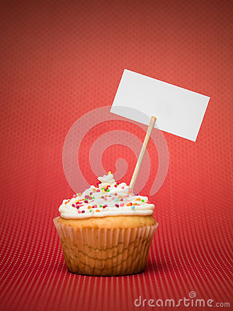 Muffin with banner