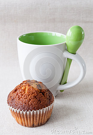 Muffin and cup