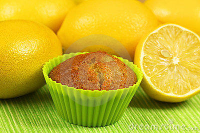 Muffin with lemons