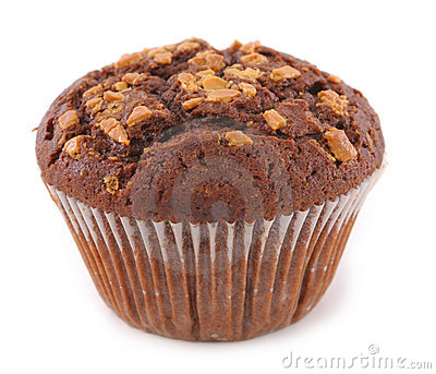 Muffin topped with nuts