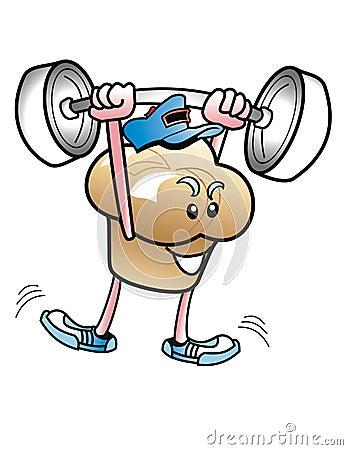 Muffinmann Gewicht-Heber.