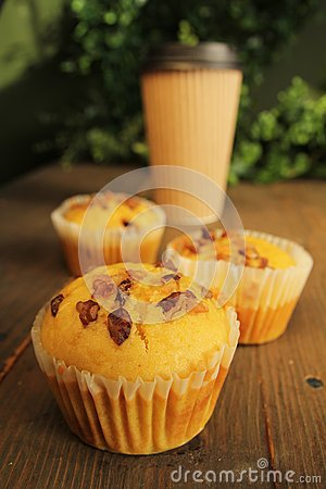 Muffins and coffee to go