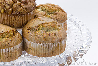 Muffins on Glass Plate