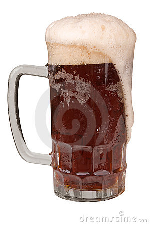 Mug of Ale with a frothy head