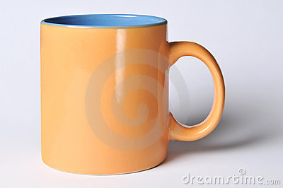 Mug with blank space for logo