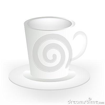 Mug/cup on plate