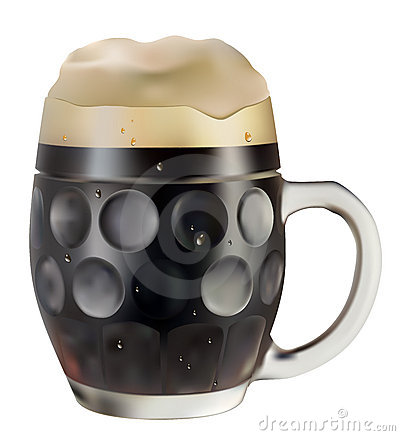 Mug of dark beer