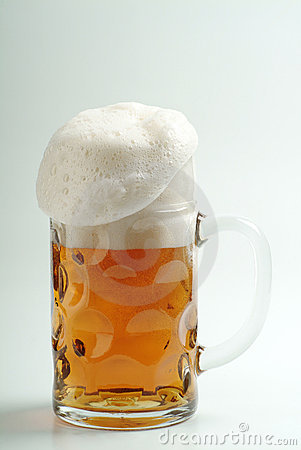 Mug of Freshly Poured Beer