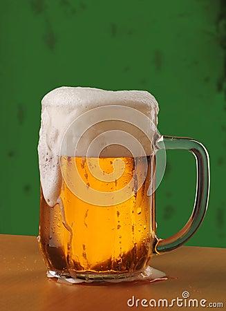 Mug of Freshly Poured Beer