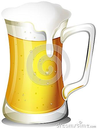 A mug full of cold beer