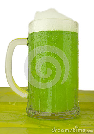 Mug of green beer