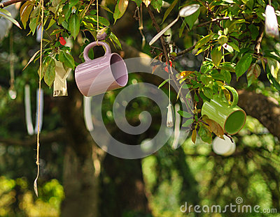 Mug hang on tree