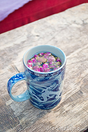 Mug of herbal tea