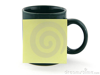 Mug and post-it note