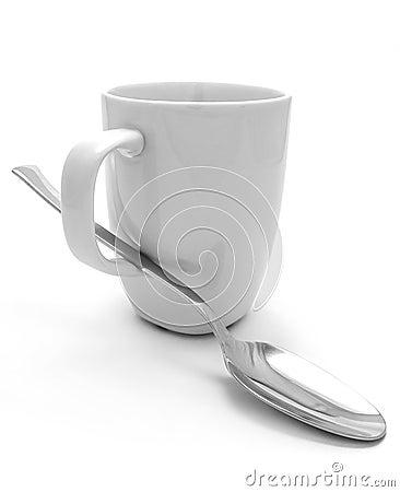 Mug and spoon