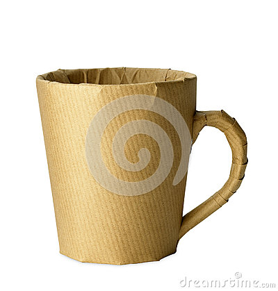Free Mug Wrapped Up For Office Move Isolated With Path Royalty Free Stock Images - 25584349
