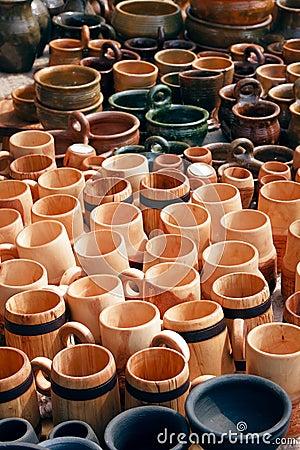 Mugs, Pitchers and pots