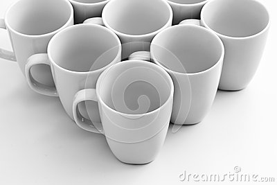 Mugs on white