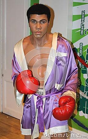 Muhammad Ali at Madame Tussaud s Editorial Image