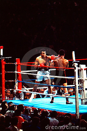 Muhammad Ali v. Leon Spinks Editorial Stock Photo