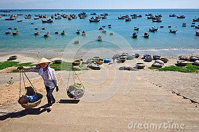 Mui Ne beach Editorial Stock Image