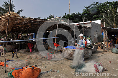 Mui ne fishing village Editorial Image