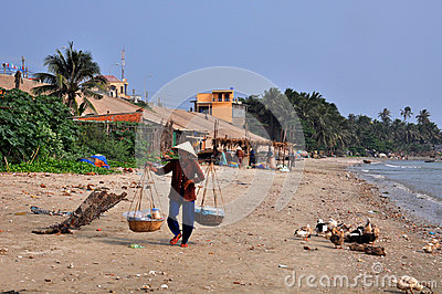 Mui ne fishing village Editorial Stock Image