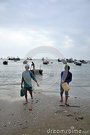 Mui ne fishing village Editorial Stock Photo