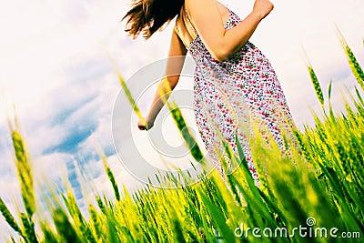 Mujer, al aire libre