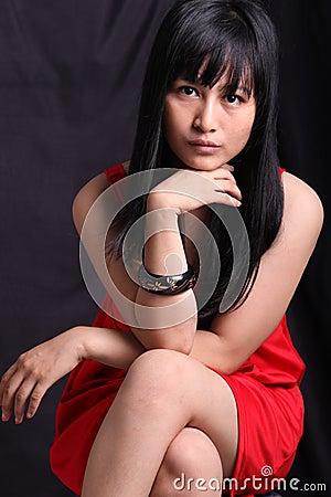 Mujer asiática
