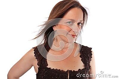 Mujer bonita en sus años  40