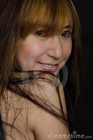 Mujer china atractiva de los años  40