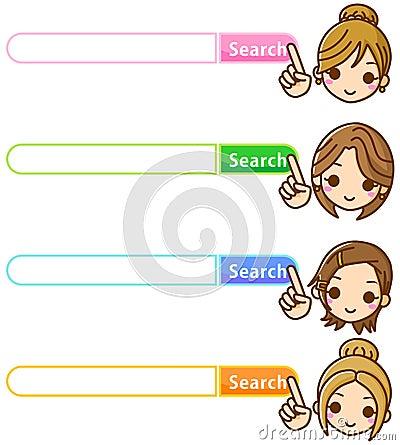 Mujer de la búsqueda