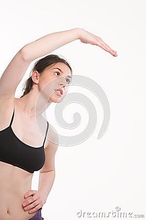 Mujer de la elasticidad