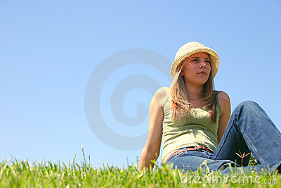 Mujer de la hierba