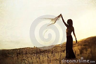 Mujer de la silueta