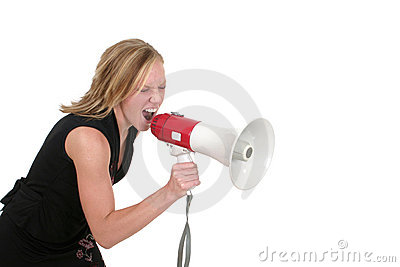 Mujer de negocios rubia agresiva atractiva 4