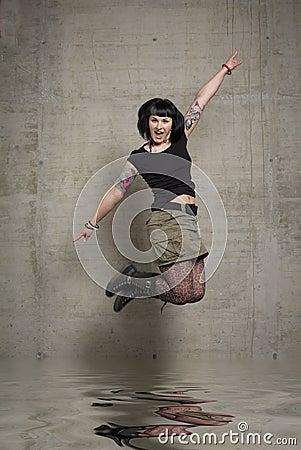 Mujer de salto