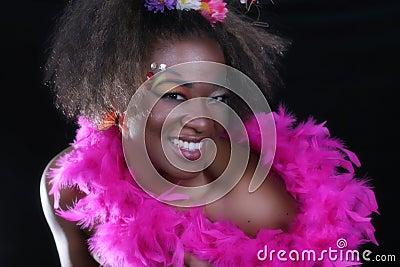 Mujer del afroamericano